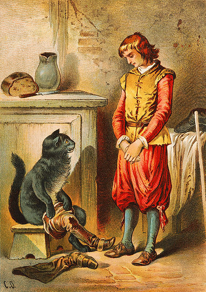 """""""El gato con botas"""". Ilustración de Carl Offterdinger"""