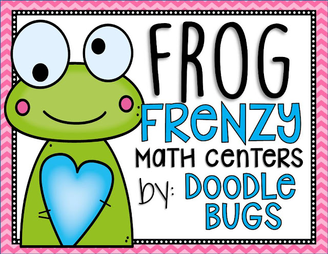 Doodle Bugs Teaching {first grade rocks!}: Frog Frenzy {Math Centers ...