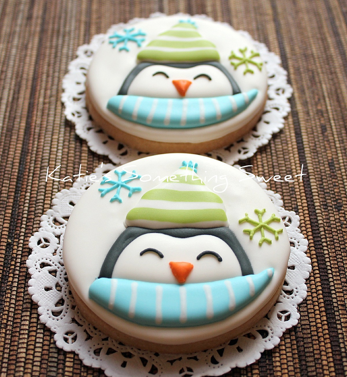 Katie S Something Sweet Monogram Cookie Penguin Cookie