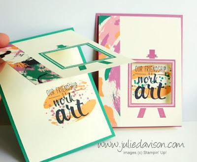 Stampin' Up! Playful Painter's Palette Peek-a-boo Cards #stampinup www.juliedavison.com