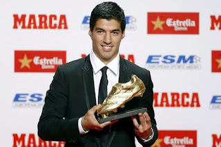 Luis Suarez won the Eurpean Golden Shoe