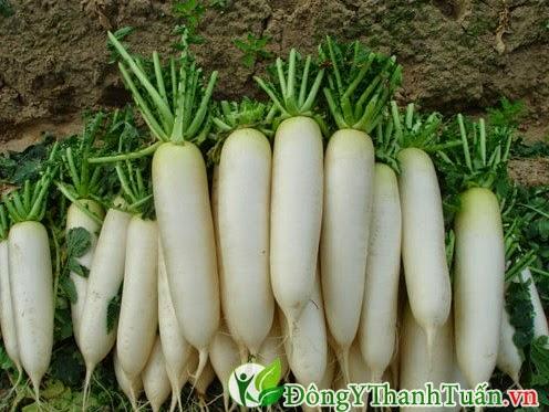 Chữa đau họng hiệu quả bằng nước củ cải trắng