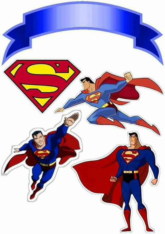 graphic about Printable Superman Pictures titled Superman: Cost-free Printable Cake Toppers. - Oh My Fiesta! for Geeks