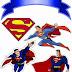 Superman: Toppers para Tartas, Tortas, Pasteles, Bizcochos o Cakes para Imprimir Gratis.