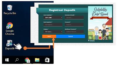 tampilan aplikasi dapodik versi baru tahun 2020