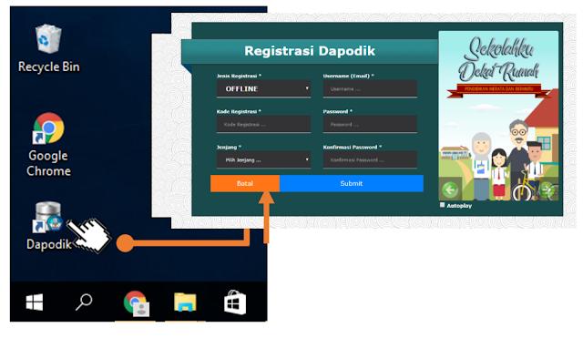 tampilan aplikasi dapodik versi baru