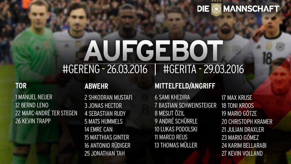 5bef2c9567 Löw convoca seleção alemã para enfrentar Inglaterra e Itália com um ...
