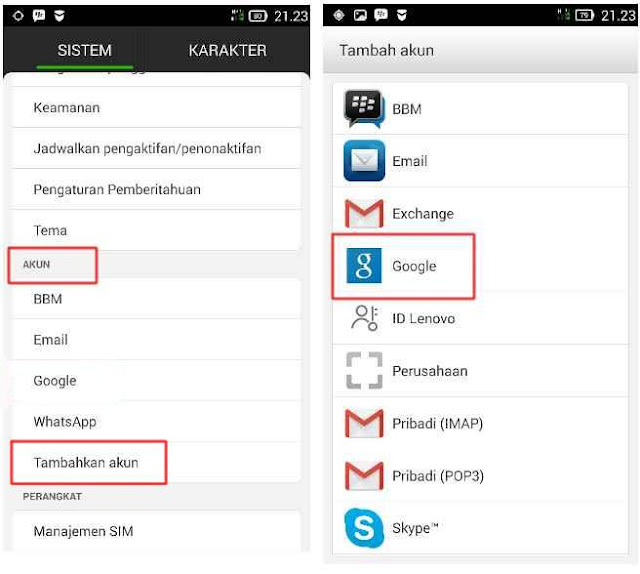 Cara  Daftar Email Android