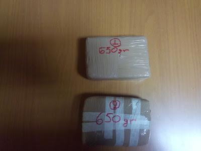 Συνελήφθησαν δύο διακινητές ηρωίνης με 1 κιλό και 300 γραμμάρια