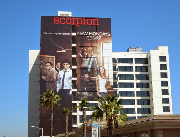 Giant Scorpion series premiere billboard
