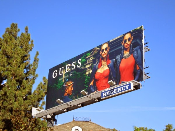 Guess Japan Holiday 2014 billboard