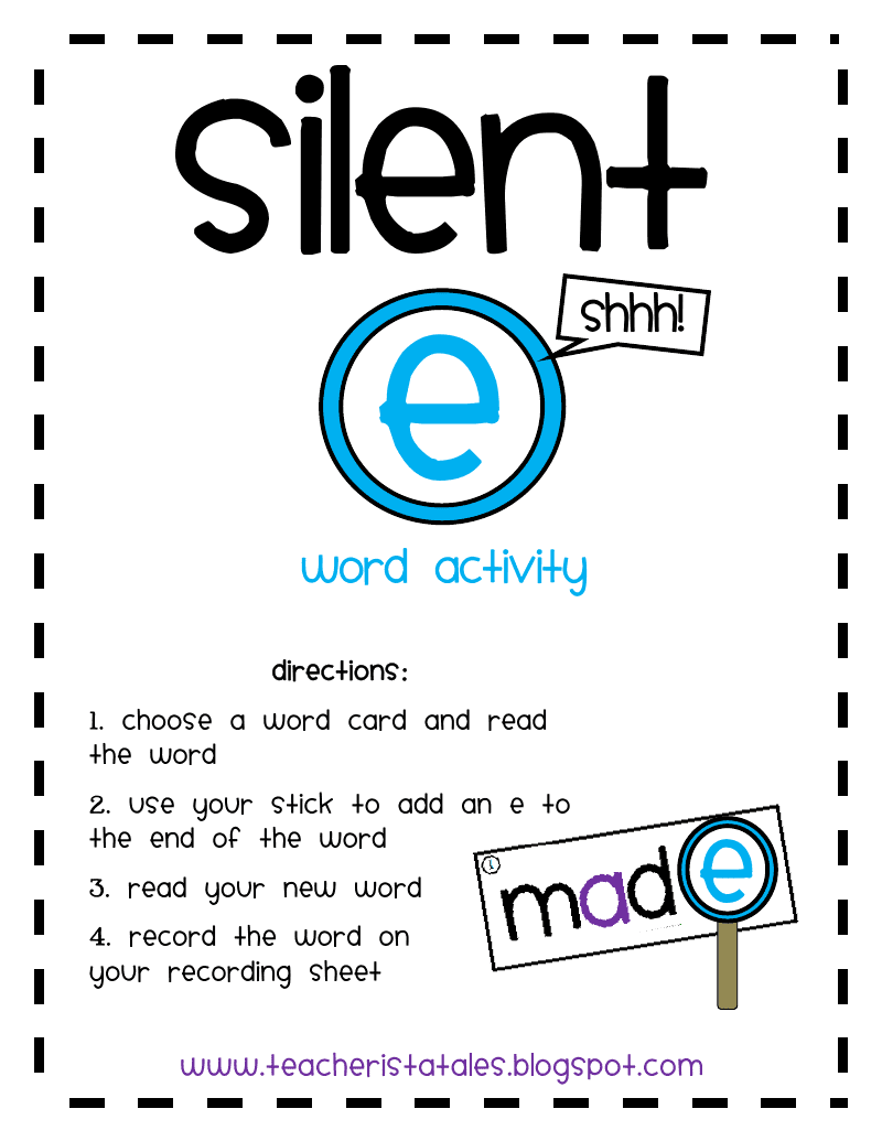 Silent E Less S Tes Te Ch