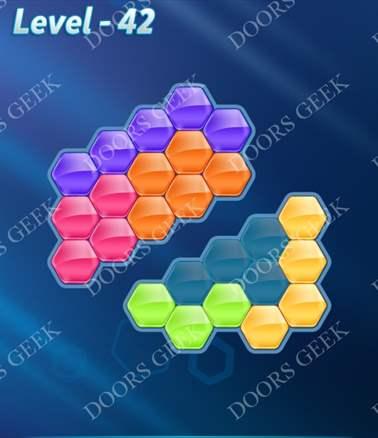 Block! Hexa Puzzle [Intermediate] Level 42 Solution, Cheats, Walkthrough for android, iphone, ipad, ipod