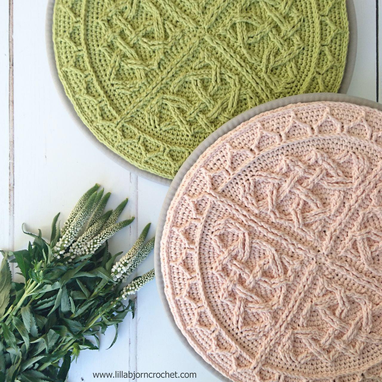 Celtic Cabled Mandala: overlay crochet pattern by Lilla Bjorn