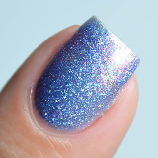purple holo flakie nail polish