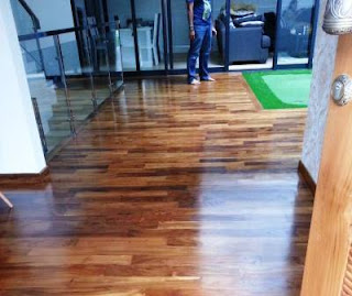 lantai jati kayu indoor