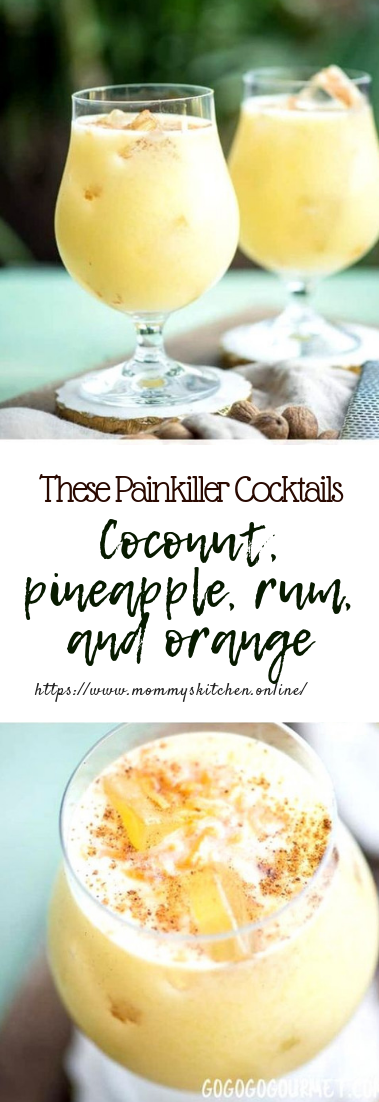 These Painkiller Cocktails #cocktail #drinksrecipe