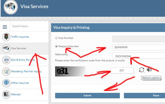 visa service online cek in negara qatar