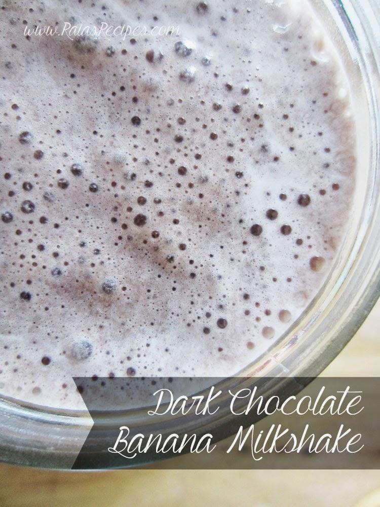 Dark Chocolate Banana Milkshake | grain-free, dairy-free, refined sugar-free | www.RaiasRecipes.com