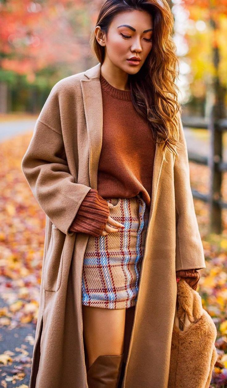 Amazing Casual Fall Outfit With A Skirt