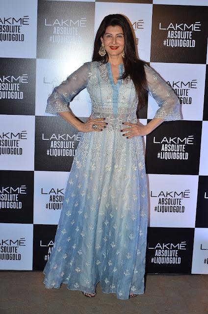 Sangeeta Bijlani In Anita Dongre At Anita Dongre's LFW 2017 Grand Finale