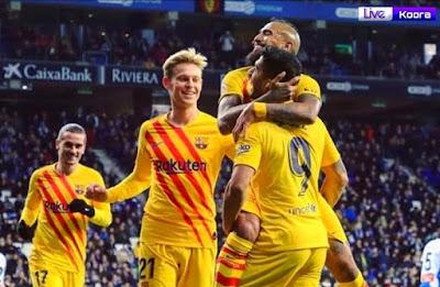 ملخص مباراة برشلونة وإسبانيول 2-2