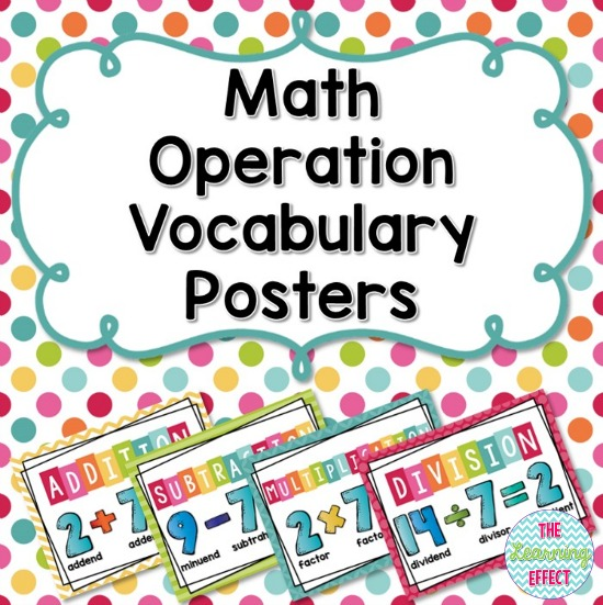 https://www.teacherspayteachers.com/Product/Math-Operation-Vocabulary-Posters-407302