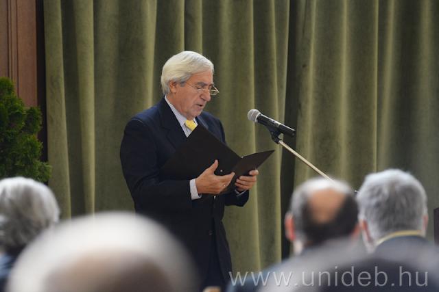 Az egyetemen rendezett ünnepségen Bognár István Ádám, a Hallgatói Önkormányzat elnöke beszédében emlékeztetett arra, hogy a debreceni hallgatók 1956. október 23-án pontokba szedve fogalmazták meg követeléseiket.