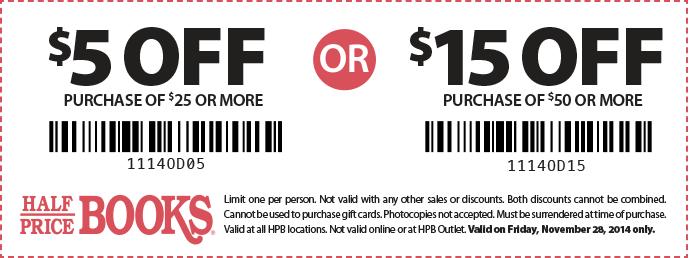 80% Off w/ Half Price Books Coupon more Half Price Books Promo Codes February