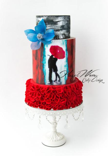 http://cakesdecor.com/cakes/170311-kissing-in-the-rain