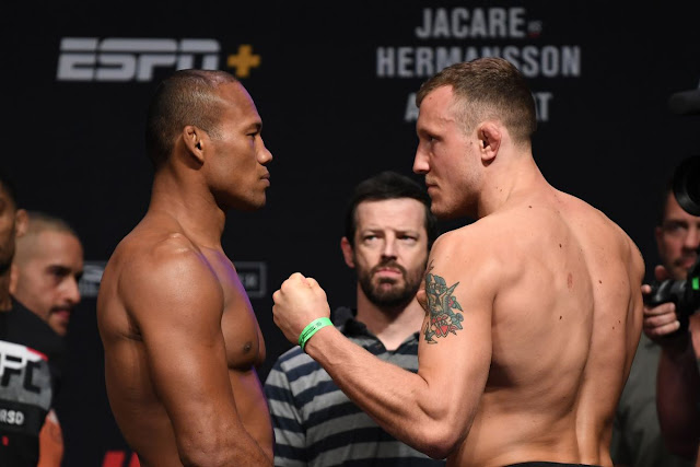 UFC On ESPN+ 8 Live Results : Jacare Souza and Jack Hermansson