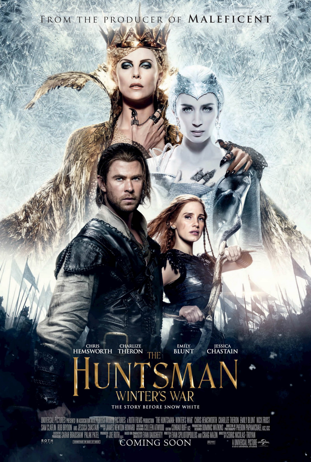 Hollywood The Huntsman Winters War (2016) Movie Poster