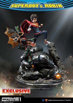 "Figuras: Increible figura diorama de ""Superboy & Robin"" de Prime 1 Studio"