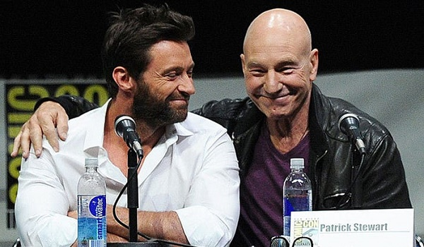 Resultado de imagem para Hugh Jackman ( Logan) e Patrick Stewart ( Professor Xavier)
