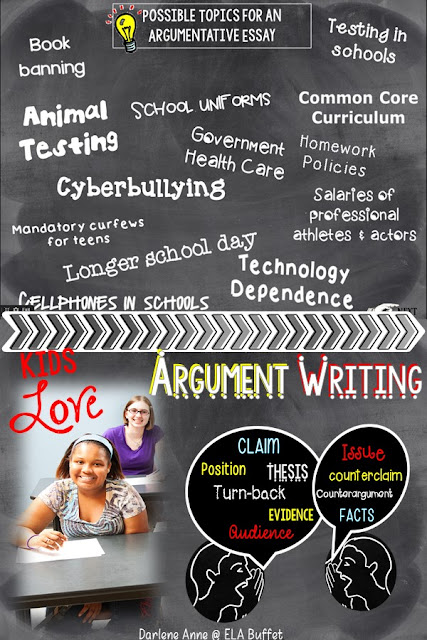 With these tips, your middle school students will LOVE writing argumentative essays! Read this blog post for tips to make arguments meaningful and authentic. #argumentwriting @middleschoolwriting #teachwriting