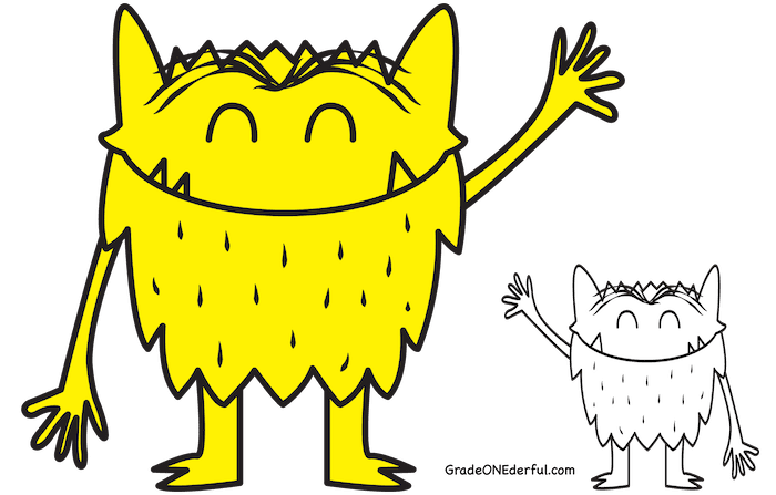 The Color Monster book review and activities: Free monster clipart