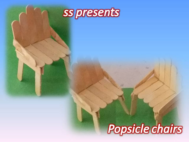 Here is popsicle house making at home,kids summer crafts,ice sticks crafts,recycled crafts,popsicle tables and chairs,popsicle doll furniture,ice stick hangings,ice sticks shells,popsicle chairs for doll house