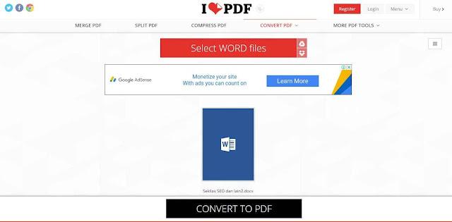 Tutorial Convert Word ke PDF Gratis