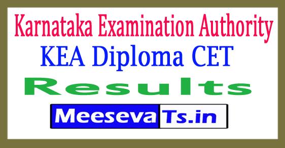 Karnataka Diploma CET Result 2017