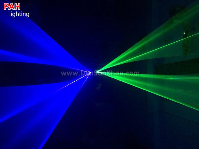 Hiệu ứng đèn Bicolor tia laser Blue Green