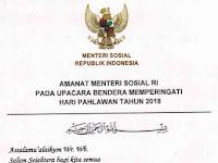 Download Pidato / Sambutan Upacara Hari Pahlawan 2018