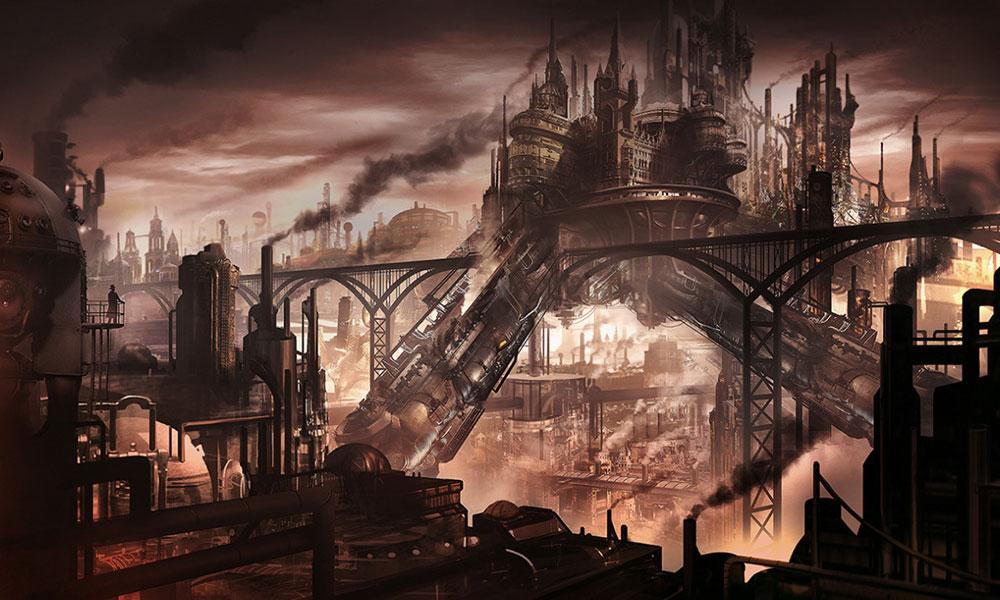 Ilustración arte Steampunk