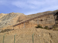 Towering walls along Fish Canyon access trail in Vulcan Materials' Azusa Rock quarry