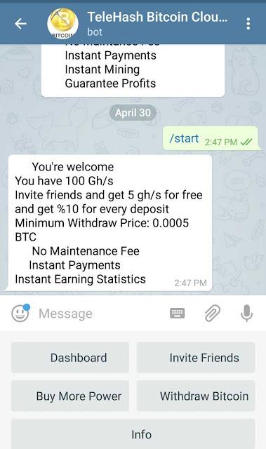 teleHash_bitcoin_cloud_mining_telegram_bitcoin_mining_bot_review_2018