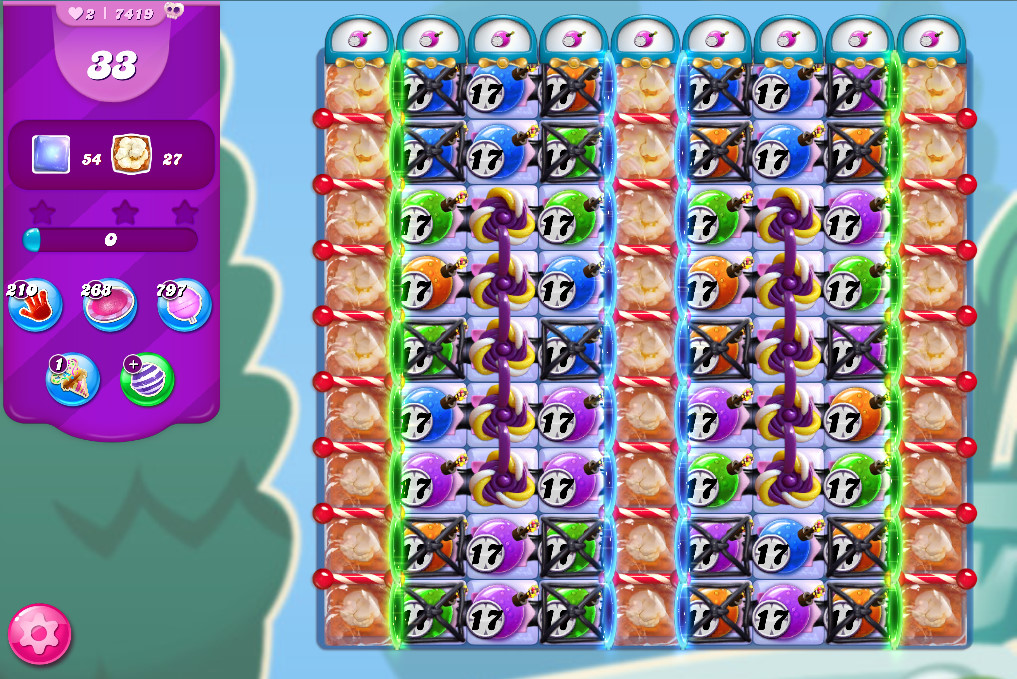 Candy Crush Saga level 7419