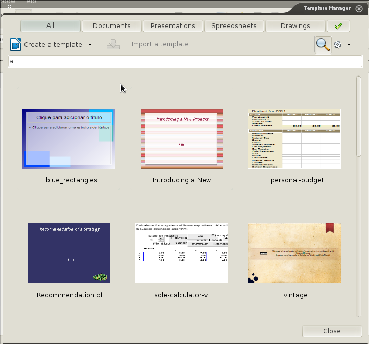 he also added support to connect to remote repositories of templates which will soon help us to connect directly to the libreoffice templates site
