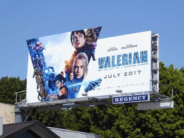 Valerian movie billboard