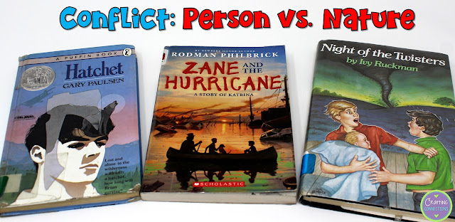 Person vs. Nature Book Examples- This blog post contains a conflict anchor chart, as well!
