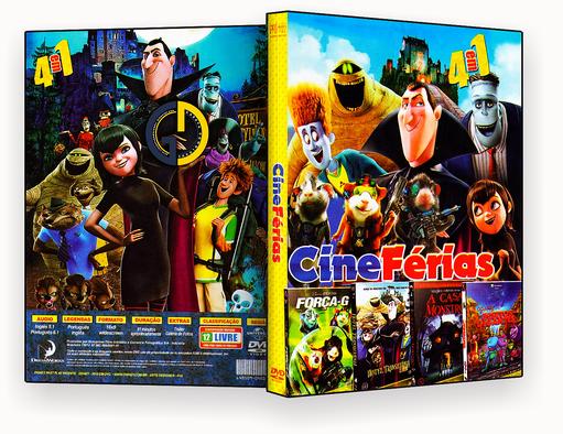 CAPA DVD – Coleção – Cine Férias – 4 em 1 – ISO