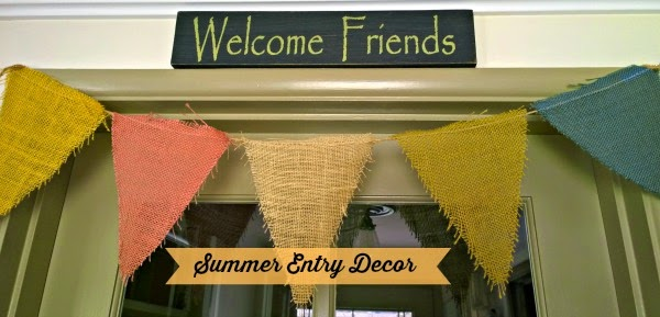 burlap banner, welcome friends sign